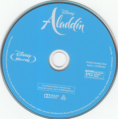 Aladdin live action 2019 Blu-ray Disc only Disney Will Smith
