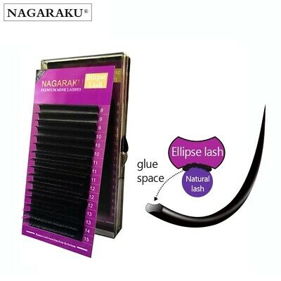 Individual Eyelashes extension Ellipse flat single lash mink B C D UK SELLER