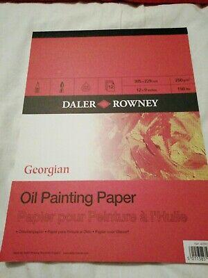 Daler Rowney georgian Oil Painting Paper 12x9inches