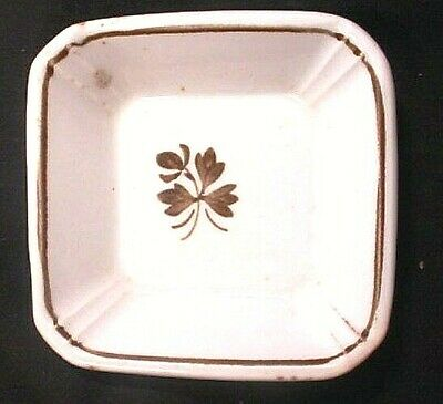 Antique Alfred Meakin  England Royal Ironstone China Tea Leaf Butter Pat