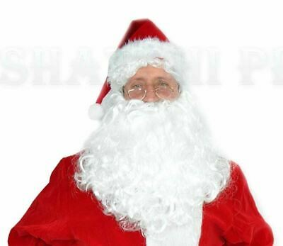 Deluxe Father Christmas Santa Claus Wig and Beard Adult Fancy Dress Costume