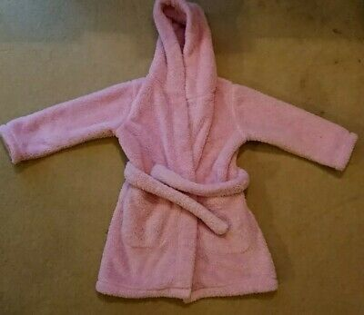 Girls Hooded M&S Dressing Gown Age 3-4 Years
