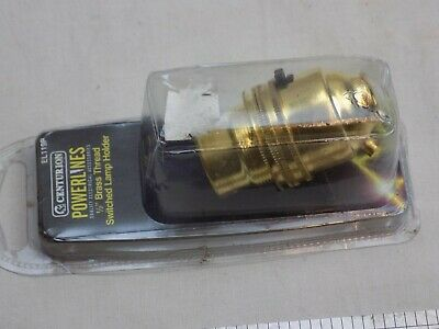 "BRASS 1/2""  thread switched lamp holder BC bayonet fitting K"