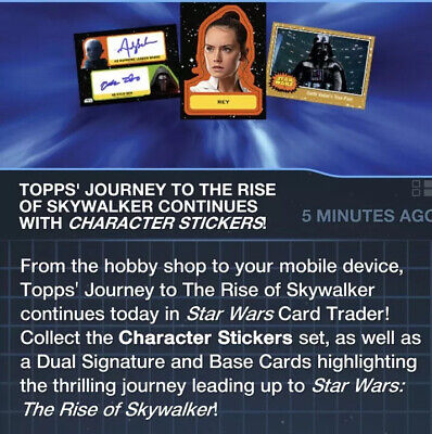 Topps Star Wars Card Trader Journey Rise of Skywalker Silver & Ruby Base Wave 3