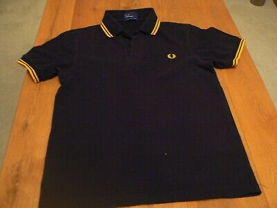 Fred Perry Short Sleeve Polo Black Small