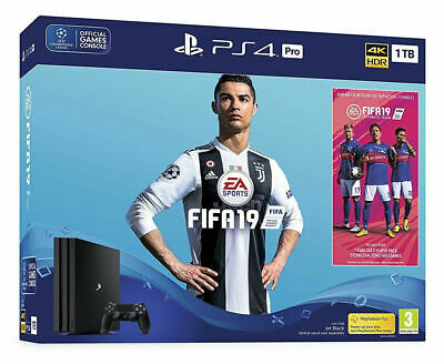 Sony PlayStation 4 Pro 1TB FIFA 19 Console Bundle - Jet Black