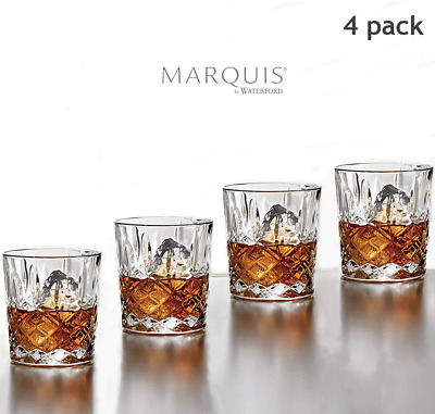 Waterford Markham Double Old Fashioned Glasses Scotch Whiskey Crystal Glass Set