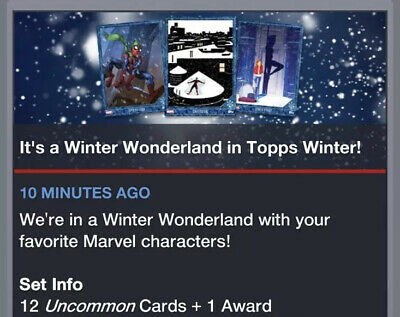 Topps Marvel Collect Card Trader Winter Wonderland Set Of 12