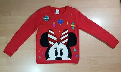 Girls Disney Store Minnie Mouse Christmas Jumper  9-10 Yrs