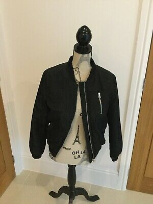 Girls New Look black Bomber Jacket Age 12-13 good condition