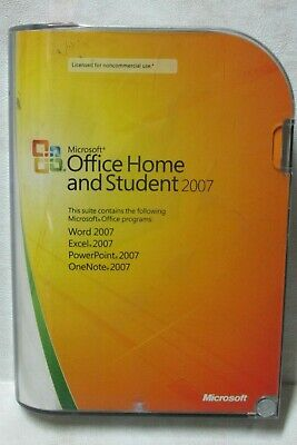 Microsoft Office Home and Student 2007 Word Excel PowerPoint OneNote With Code