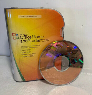 Microsoft Office Home and Student 2007 With Key Ships FREE!