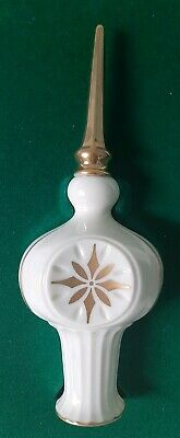 Lenox China Tree Topper Eternal Ornament Ivory  Gold Trim Tree Ornament with Box
