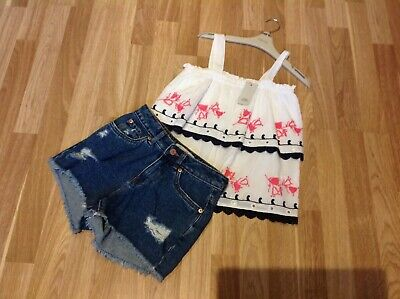 BNWOT RIVER ISLAND GIRLS TOP AND SHORTS OUTFIT AGE 10 Years Must See !,
