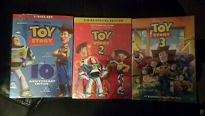 Toy Story 1 2 3 Trilogy 1-3 (DVD) All 3 Movies Sealed NEW