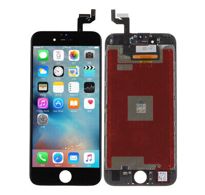 """For Iphone 6s 4.4"""" Glass Digitizer LCD Display Touch Screen Full Frame Black"""