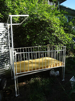 Gorgeous Vintage Wrought Iron? Metal Hospital Cot - Doll Display