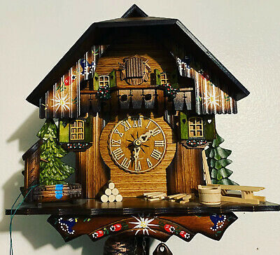 8 Day Black Forest Cuckoo Clock NEW Chalet Kammerer Large Regula Movement German