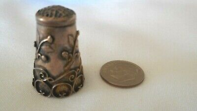 Sterling Silver Ornate Sewing Finger Thimble TAXCO 925 (Ai