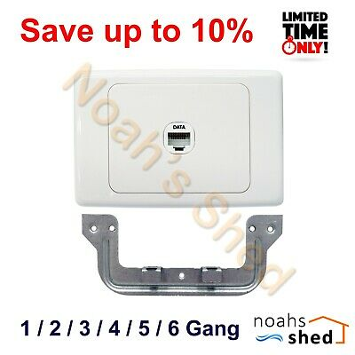1 2 3 4 5 6 Gang Port Cat6 Wall Plate Wallplate Network RJ45 Jack Clipsal Style