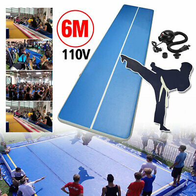 1.2mm x20FT Airtrack Air Track Floor Home Inflatable Gymnastics Tumbling Mat GYM