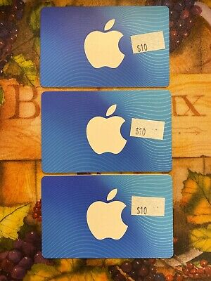 $30 Apple Gift Card App Store & iTunes NEW Unused Physical GiftCard