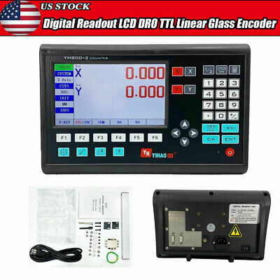 2 Axis Digital Readout Display System for LCD DRO DB9 TTL Linear Scale Milling