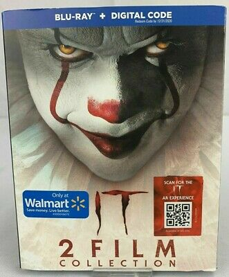 It 2 Film Collection Chapter 1 & 2 - Blu-Ray + Slipcover + Digital Sealed New
