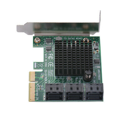 PCI-Express PCI-E to SATA 3.0 6 Ports Expansion Card for IPFS Mining AC1723