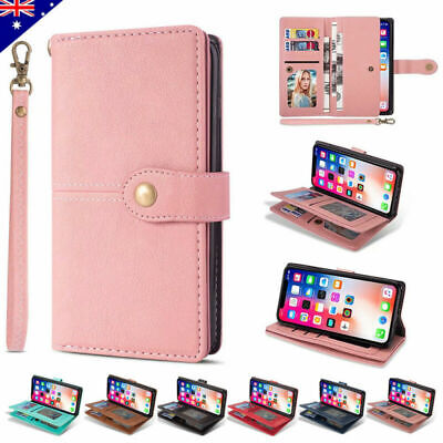 For iPhone 11 Pro Max 8/7/6s Plus XS XR Leather Magnetic Flip Wallet Case Cover