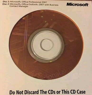 Microsoft Office Professional 2007 ***GENUINE MS HOLOGRAM Discs***
