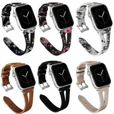 For iWatch Apple Watch Series 5/4/3/2/1 Leather Watch Bands Strap 38/40/42/44mm