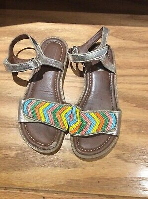 Girls John Lewis Beaded Sandals Size 1 UK