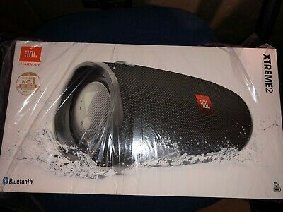 New JBL Xtreme 2 Bluetooth Wireless Rechargeable Portable Speaker 40w Black 15h