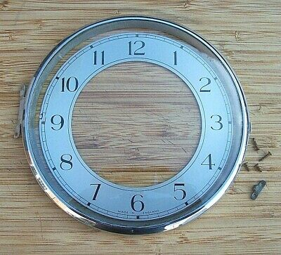 Smiths Enfield Chrome Clock Bezel and Glass with Dial