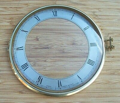 Smiths Enfield Brass Clock Bezel and Glass with Dial