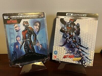 Ant Man / And The Wasp Steelbook Lot (4K UHD/Blu-ray/Digital) Factory Sealed
