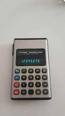 casio pocket-mini electronic calculator 1975 vintage rare ref cp.801b