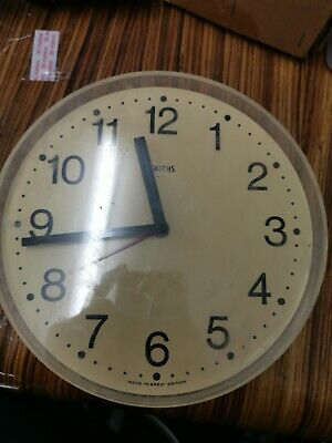 Retro/Vintage Smiths Cream Kitchen Style Wall Clock
