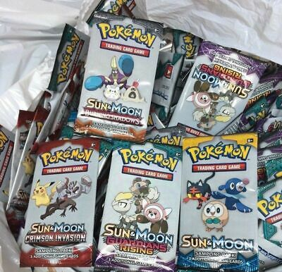 Job Lot - wholesale  Pokemon Sample Packs x 200 packs Sun & Moon packs.
