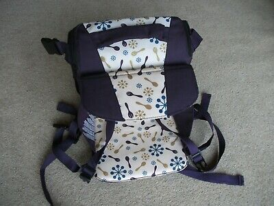 childs munchkin travel/booster seat carry handle storage for nappies etc.