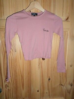 Girls Topshop Pink Long Sleeved Top Size 8 Excellent Condition Worn Once