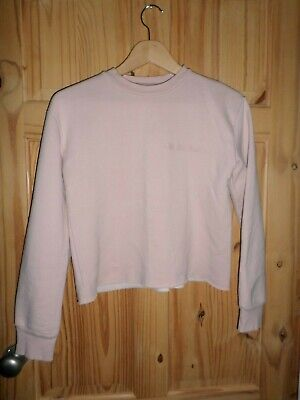 Girls Topshop Pink Long Sleeved Jumper Top Size 8 Uh Huh Honey Excellent Cond