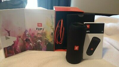 JBL Flip 3 Waterproof Portable Bluetooth Speaker (Black) JBLFLIP3Black