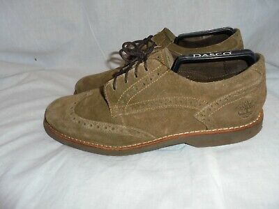 Mens Timberland Brown Leather Brook Park Smart Mid Shoes Size UK 8.5 EU 43 A1N4E