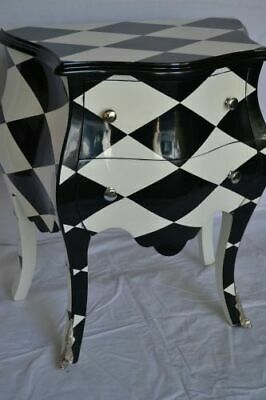 French Chest Of Drawers Lxv  Style Black And White
