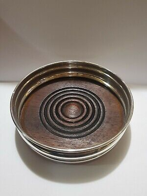 Solid Silver Wine Coaster 1979 Hallmarked London Clear Marks