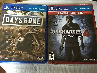 Days Gone + Uncharted 4 PS4 Lot Bundle Sony Exclusives NEW Sealed