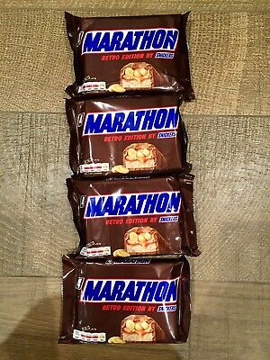 16 (4X 4 PACK) MARATHON RETRO LIMITED EDITION BRITISH CHOCOLATE BARS Snickers