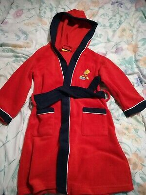 Dressing Gown with hood, red 'Official Simpsons' Bart Simpson Age 3 - 4 Years
